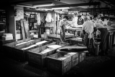 Marché aux poisson, Tokyo, 2010